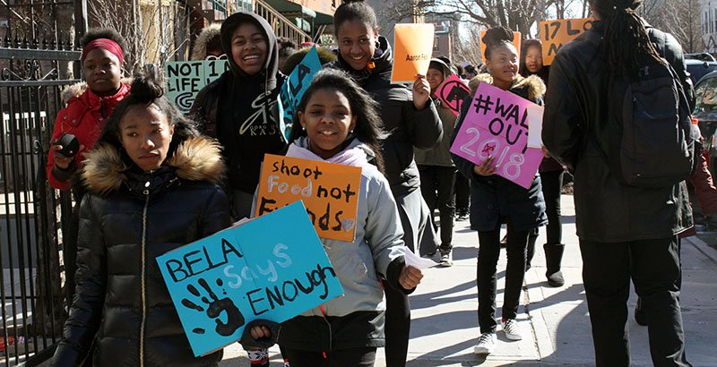 'The Women Have to Come Together': At Brooklyn All-Girls School, National Walkout Has Local Reverberations on Violent Streets
